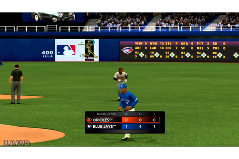 MLB 2K13 gameplay BAL vs TOR - YouTube
