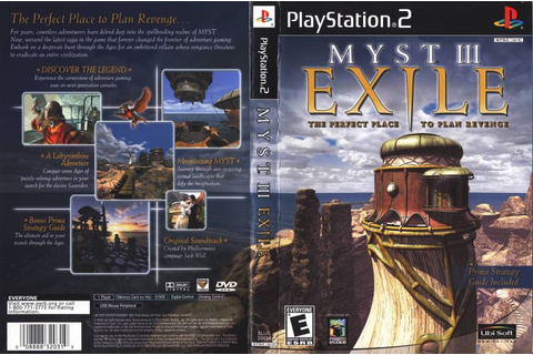 Myst III: Exile (2002) PlayStation 2 box cover art - MobyGames