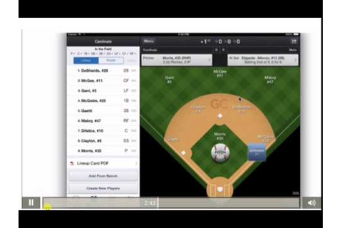 Video 3 Dynamic Baseball Game Changer Basic Scoring - YouTube