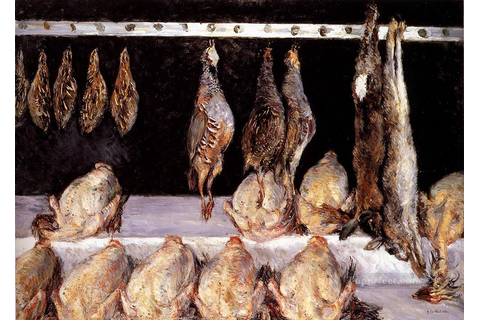 Display Of Chickens And Game Birds Impressionists Gustave ...