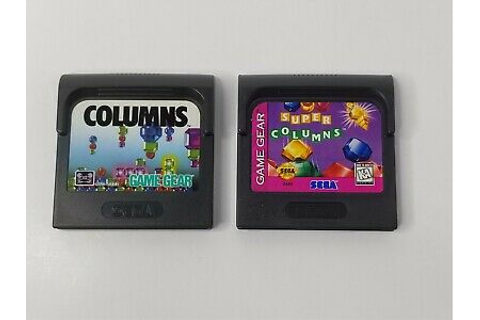 Columns and Super Columns Sega Game Gear Cartridges ONLY ...