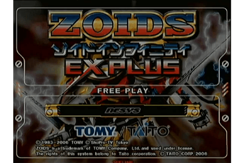 Zoids Infinity EX PLUS arcade video game by Taito (2006)