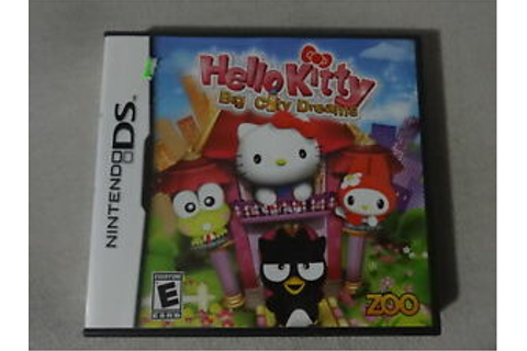 EUC Hello Kitty Big City Dreams Nintendo DS Video Game ...