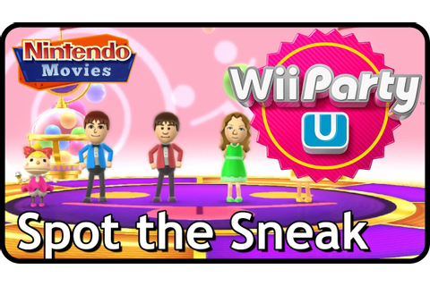 Wii Party U - Spot the Sneak - YouTube