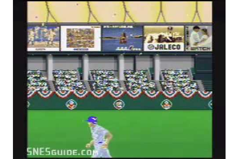 Super Bases Loaded - SNES Gameplay - YouTube