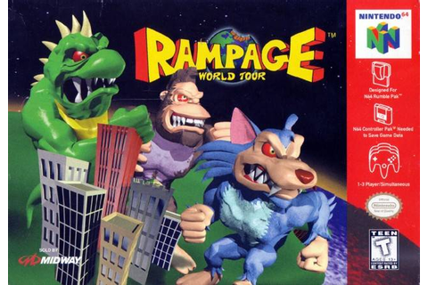 Rampage World Tour Nintendo 64 Game