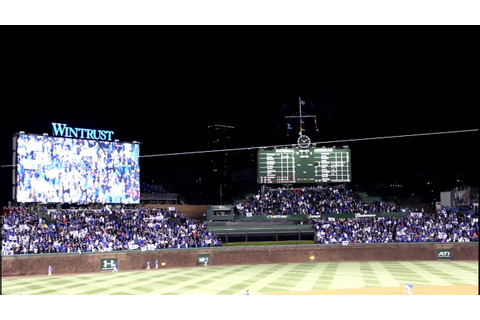 2016 Chicago Cubs Opening Night Final Out Inside Wrigley ...