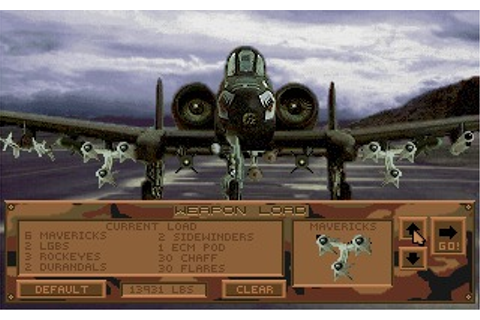 A-10 Tank Killer (DOS) Game Download