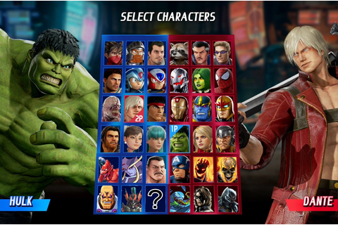 Marvel vs. Capcom Infinite Full Character Roster ...