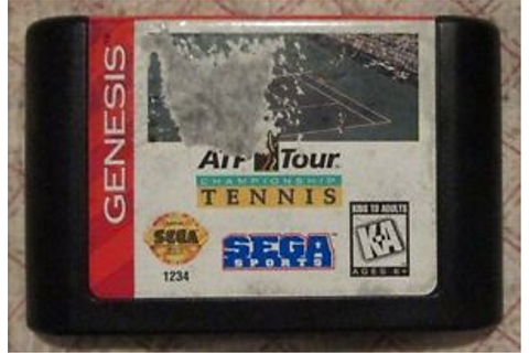 Sega Genesis ATP Tour Championship Tennis (Game only) | eBay