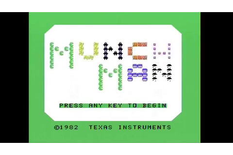 Far Out Fridays: Ti99/4A Game - Munch Man - YouTube
