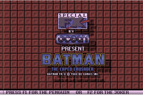 Batman: The Caped Crusader (1988) by Special FX Amiga game