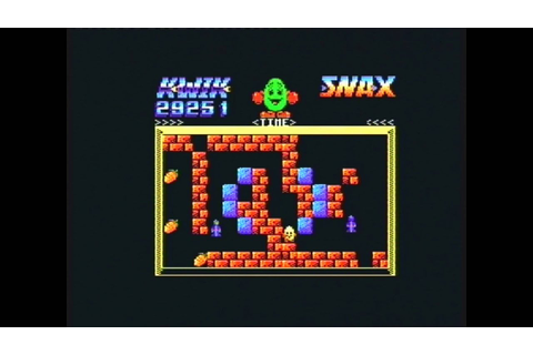 Kwik Snax Title screen music - Amstrad CPC (Real hardware ...