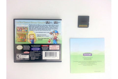 Puzzle de Harvest Moon game for Nintendo DS (Complete ...