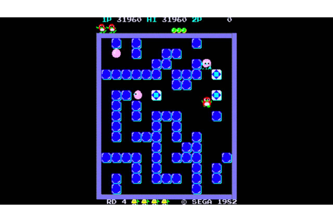 Playing Pengo (1982 Sega Arcade Game) - YouTube