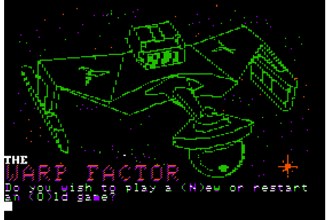 The Warp Factor (1981) by SSI Apple II E game