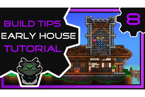Fancy Early Game House | Terraria Build Tips - YouTube