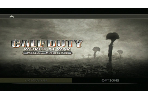 Call of Duty: World At War – Final Fronts - Game Menu ...