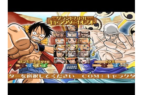One Piece Grand Battle 3 All Characters [PS2] - YouTube