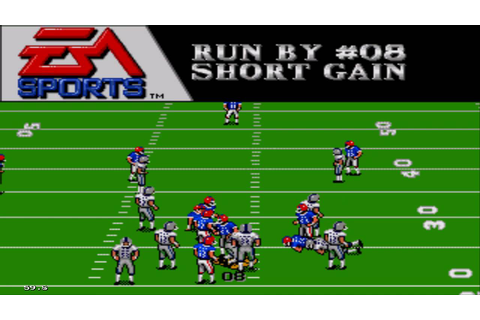 Madden NFL '94 Sega Genesis Gameplay HD - YouTube