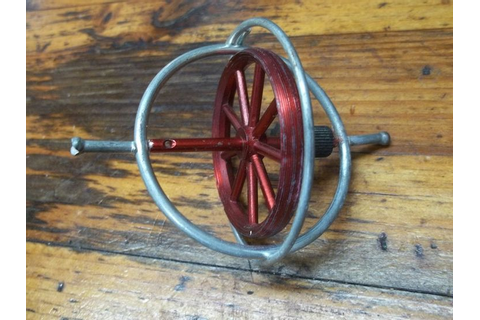 {1.29.14} Vintage Metal Gyroscope Gyro Top Toy Game ...