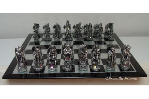 Tudor Mint's Ultimate Pewter and Crystal Chess Set