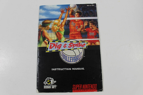 Manual - Dig & Spike Volleyball - Snes Super Nintendo