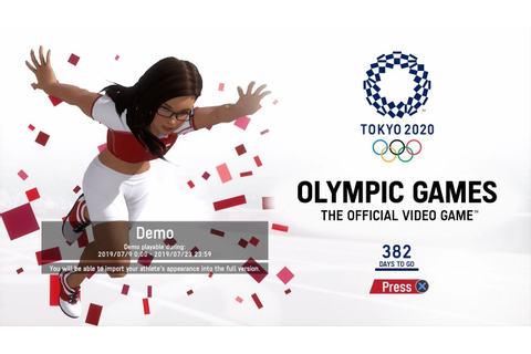 OLYMPIC GAMES TOKYO 2020 Gameplay English PS4 Switch - YouTube