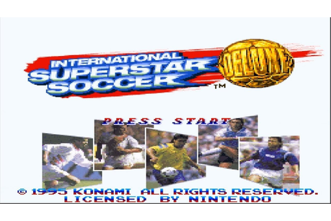 1995 International SuperStar Soccer DELUXE Intro (SNES ...