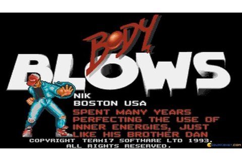 Body Blows gameplay (PC Game, 1993) - YouTube