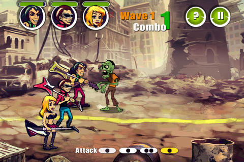 Game Review – Rock All Zombies Free for iOS | 91mobiles.com