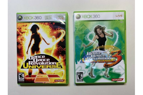 2 Game Lot Dance Dance Revolution Universe 1 + 3 DDR ...