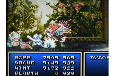 My niece plays Final Fantasy 6 and decides to name the ...