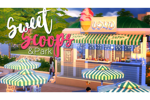 The Sims 4 | Restaurant Build: Sweet Scoops 🍭🍦 - YouTube