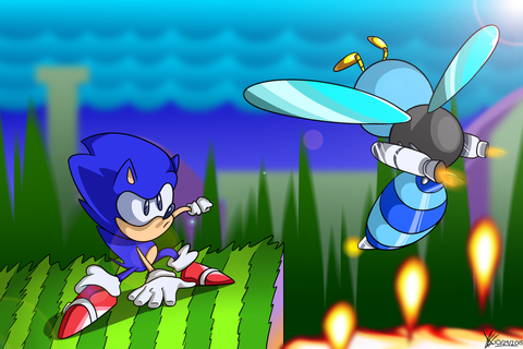 Sonic V Buzz Bomber by mporkyp on DeviantArt