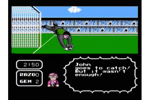 Tecmo Cup Soccer Game (NES) gameplay - YouTube
