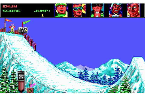 Download Ski or Die sports for DOS (1990) - Abandonware DOS