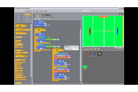 Scratch game project - a tennis match Nadal vs Federer ...