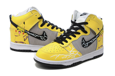 Pokemon Nikes Pikachu Shoes Video Game Sneaker Yellow For ...