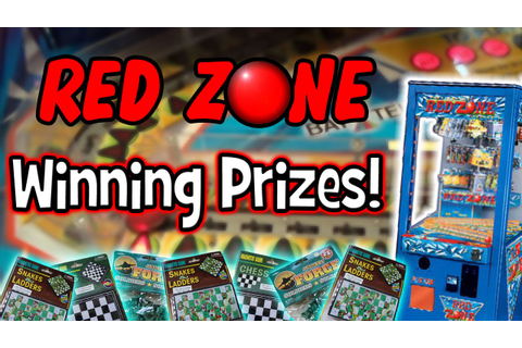 RED ZONE Arcade Game - Winning Prizes! - YouTube