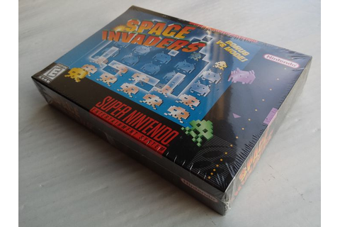 Super Nintendo game: Space Invaders (NTSC) factory sealed ...