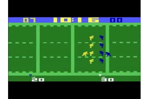 Video Games Evolved : Football on the Atari VCS/2600 - YouTube