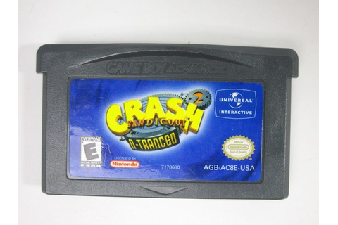 Crash Bandicoot 2 N-tranced game for GameBoy Advance ...
