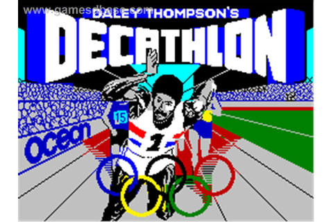 Daley Thompson's Decathlon, Sinclair ZX Spectrum 48k ...