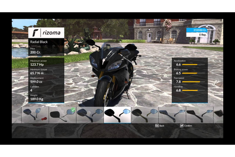 Ride: Game - Yamaha R6 2015 - customization options - YouTube