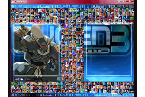 My Mugen Roster (Completed) - YouTube