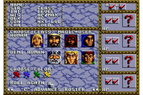 Dungeons & Dragons: Warriors of the Eternal Sun Mega Drive ...