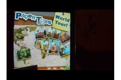 App Review: Paper Toss World Tour - YouTube