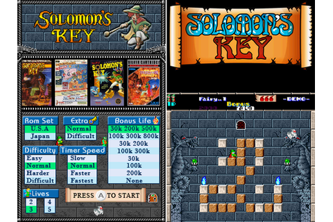 Solomons Key DS v1.0 (Arcade Game emu for NDS) › Nintendo ...