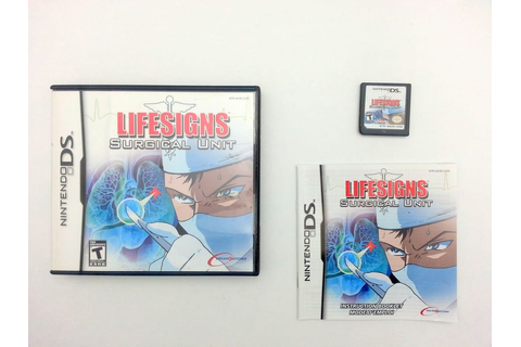Lifesigns Surgical Unit game for Nintendo DS -Complete ...